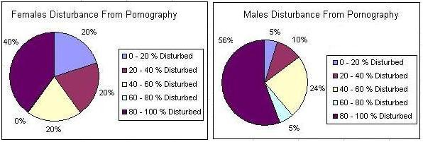 Figure 5: How much females and Males are disturbed by pornography