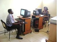 Figure 4: Library staff appending digital