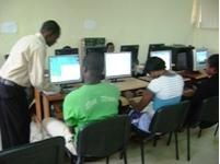 Figure 5: Staff uploading the materials online theses